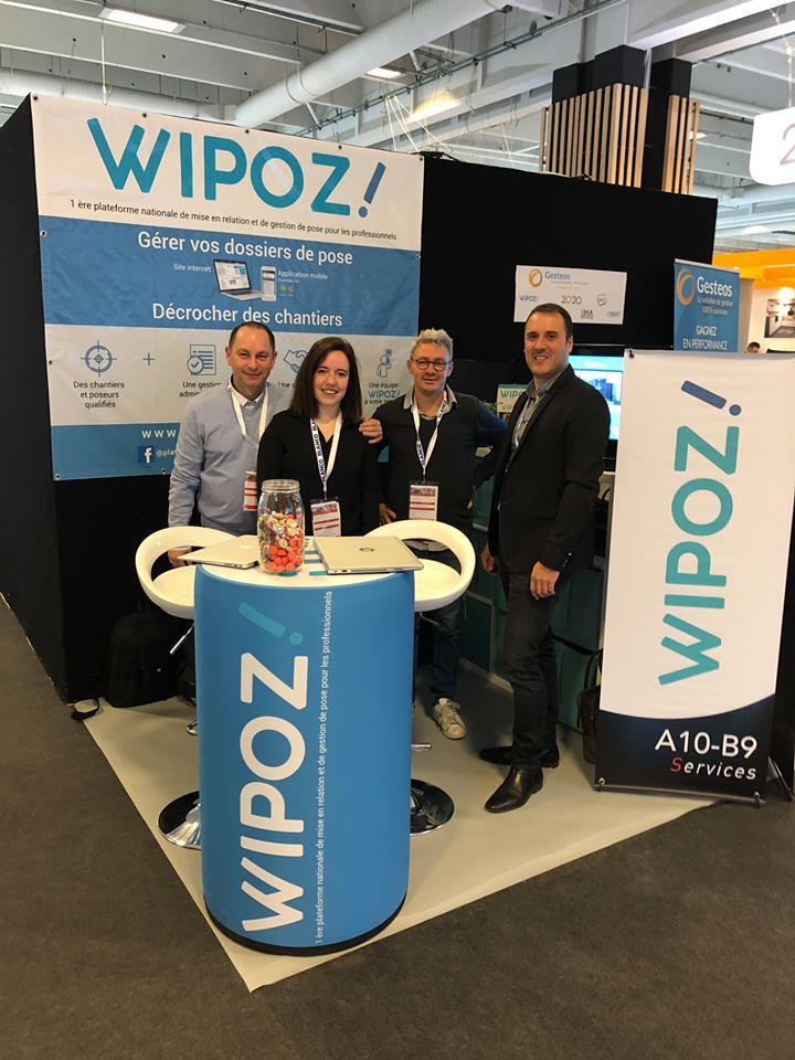 Comptoir d'accueil gonflable pour WIPOZ